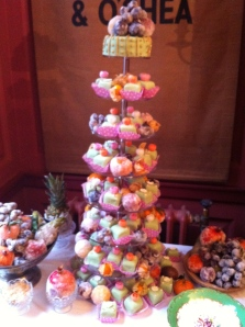 The fruit cake tower with sugared fruit
